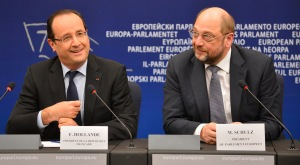 Francois HOLLANDE - President of France and Martin SCHULZ - EP President